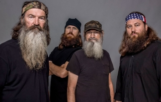 Duck Dynasty with their famous beards